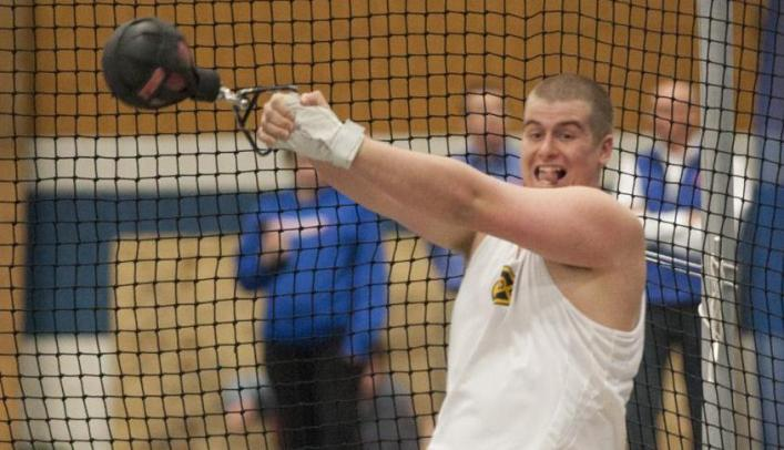 Men's Indoor Track & Field Team Takes Second at Home Triangular