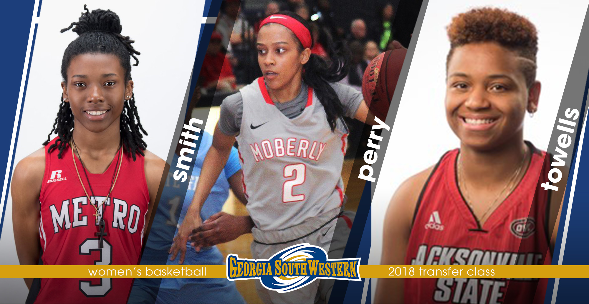 This year's transfer class includes Kayla Smith, Brianna Perry and Morgan Towells.