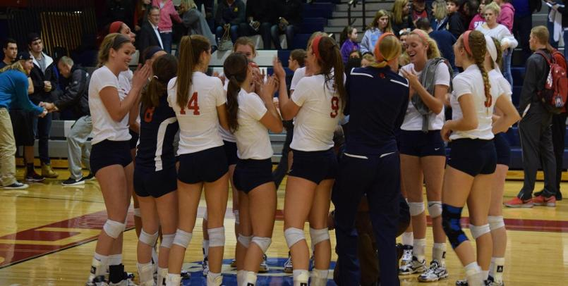 Volleyball falls to Huskies in home GLIAC contest, 3-0