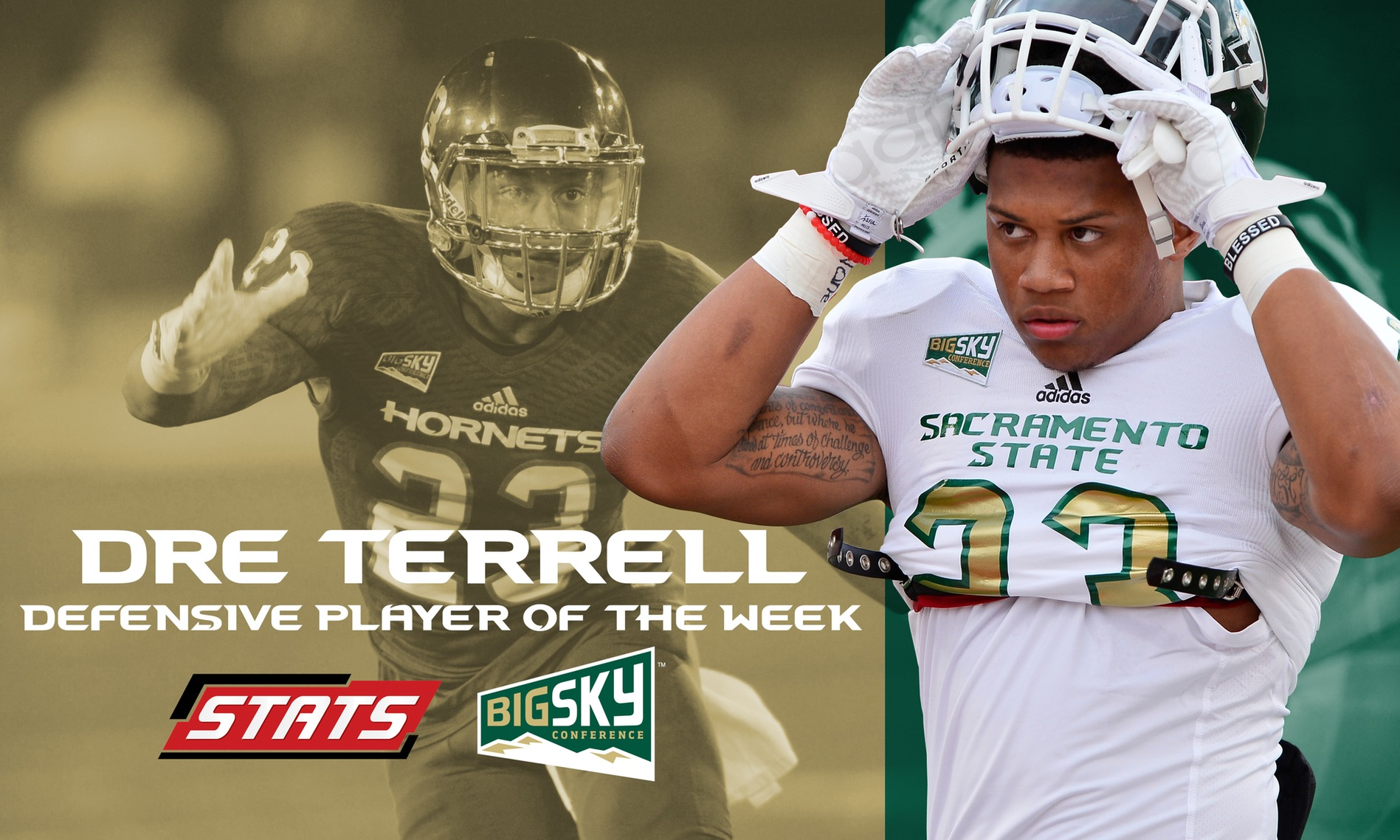 TERRELL NAMED FCS NATIONAL AND BIG SKY DEFENSIVE PLAYER OF THE WEEK