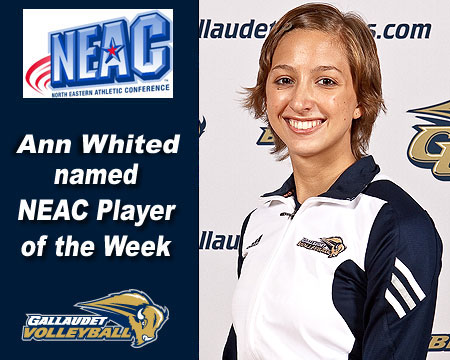 Ann Whited earns NEAC Volleyball Player of the Week award
