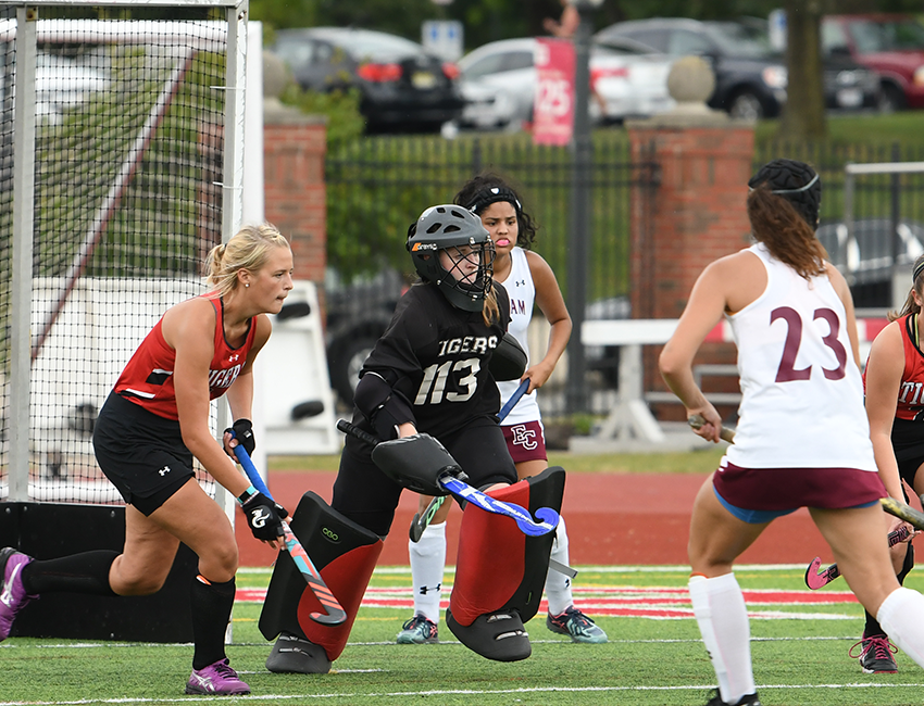 Senior Allie Purvis and the Wittenberg field hockey team ended the 2018 season with a 3-0 loss at Denison in the semifinal round of the NCAC Tournament