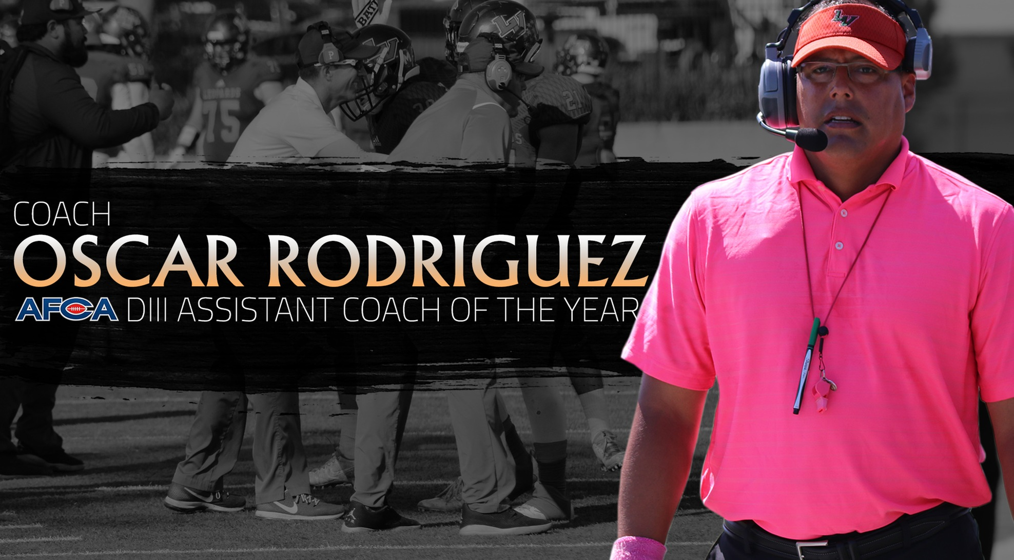 Rodriguez named AFCA DIII Assistant Coach of the Year
