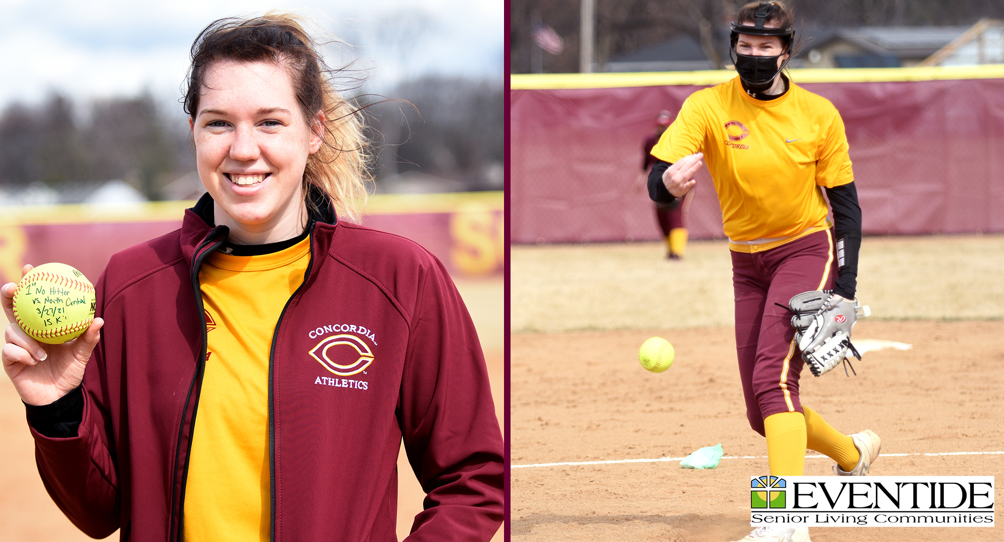 Megan Gavin became the first pitcher in Cobber history to throw a no-hitter and record all 15 outs by a strikeout.