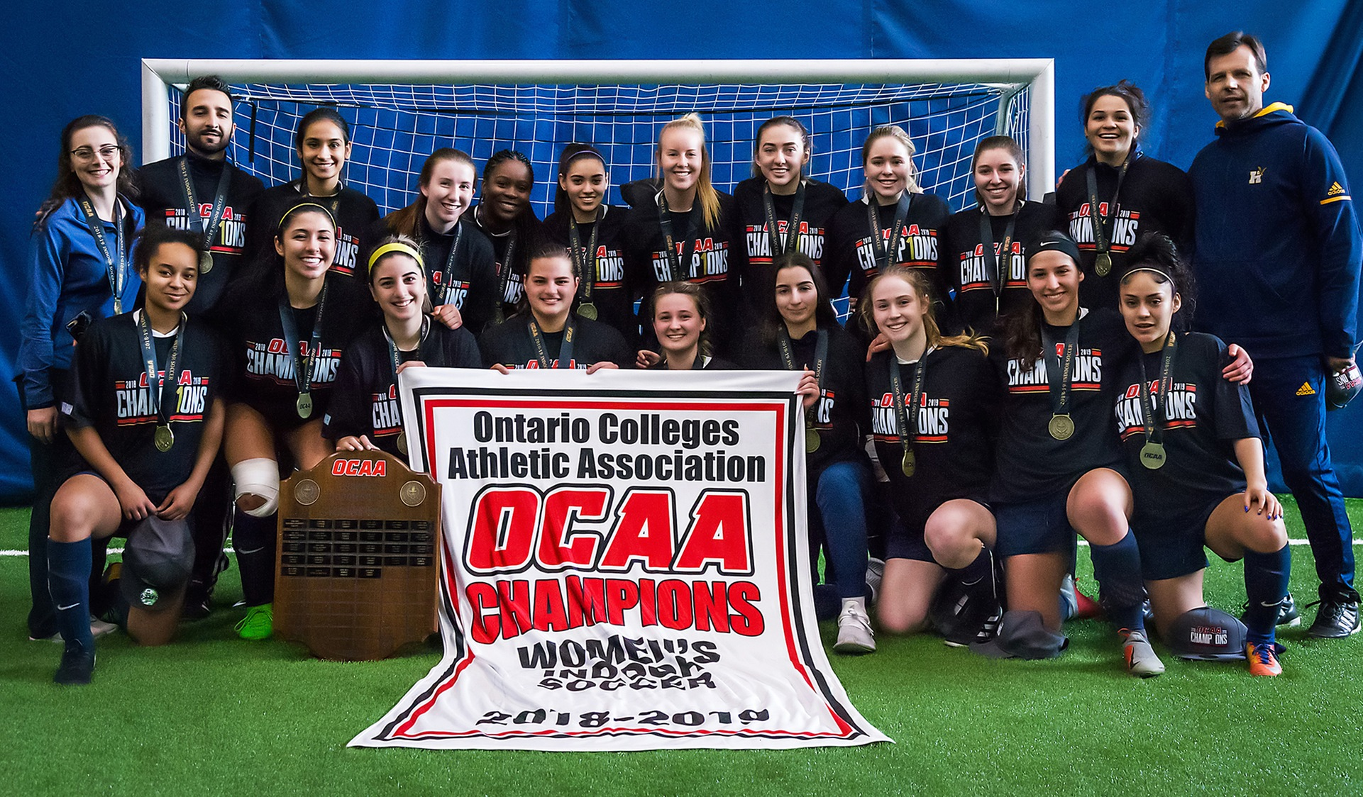 HUMBER WOMEN'S INDOOR SOCCER WINS THIRD STRAIGHT OCAA TITLE