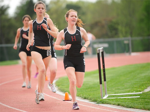 Women's track competes at Widener Invite