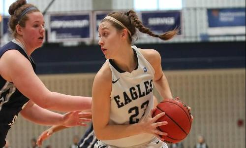 Howland Scores 12, as Eagles use Big Second Half to Cruise Past Southern Virginia, 73-38