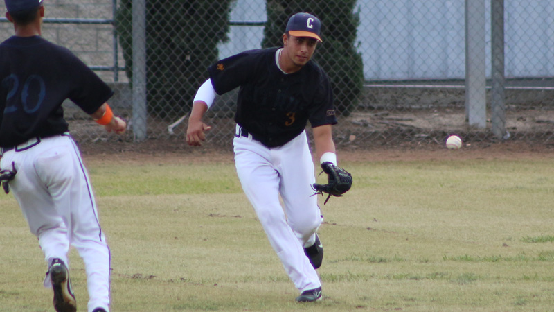 Freshman Jesse VIllalobos drove in a pair and scored twice in Citrus' win at Mt. San Antonio College. Photo By: Mykenna De Avila