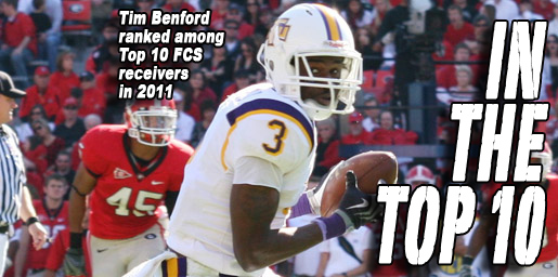 Tech's Tim Benford ranked among Top 10 FCS receivers for 2011