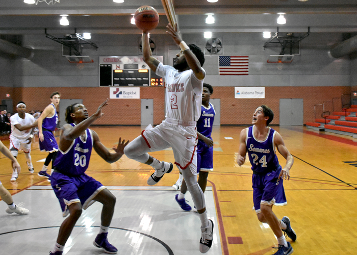 Isaiah King had 12 points and six rebounds in Saturday's win over Sewanee.