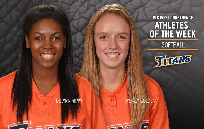Golden, Rippy Earn Big West Conference Weekly Honors