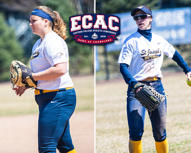 Softball's Tibbetts and DeFina Garner All-ECAC Recognition