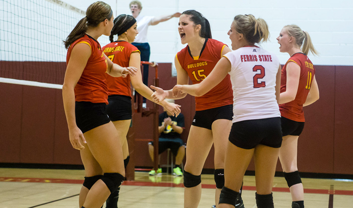 Bulldog Volleyball Rolls Past Findlay In Return To GLIAC Play