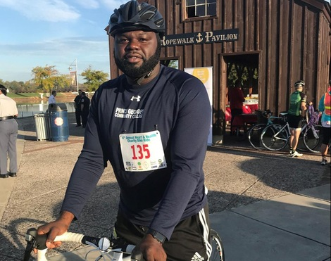 Prince George's Men's Soccer Coach Taiye Akinmboni Participates In Fourth Annual Heart and Health Charity Bike Ride