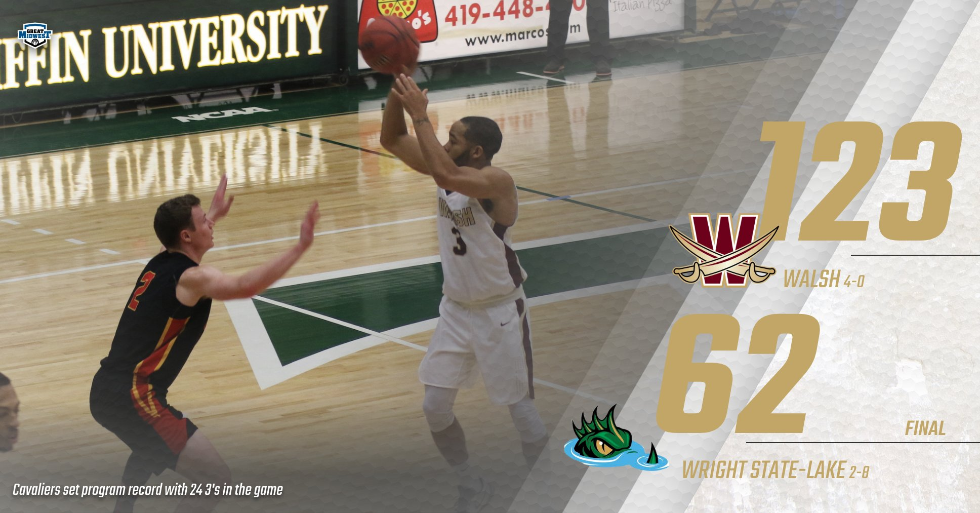 Men's Basketball Sets New Program Record in Win over Lakers
