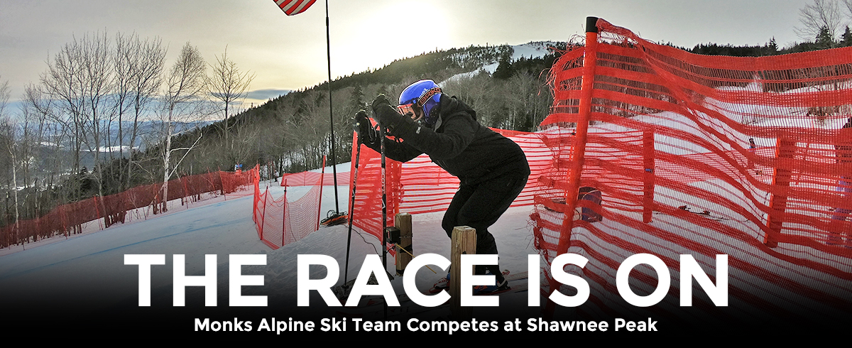 Monks Alpine Ski Team Competes at Shawnee Peak