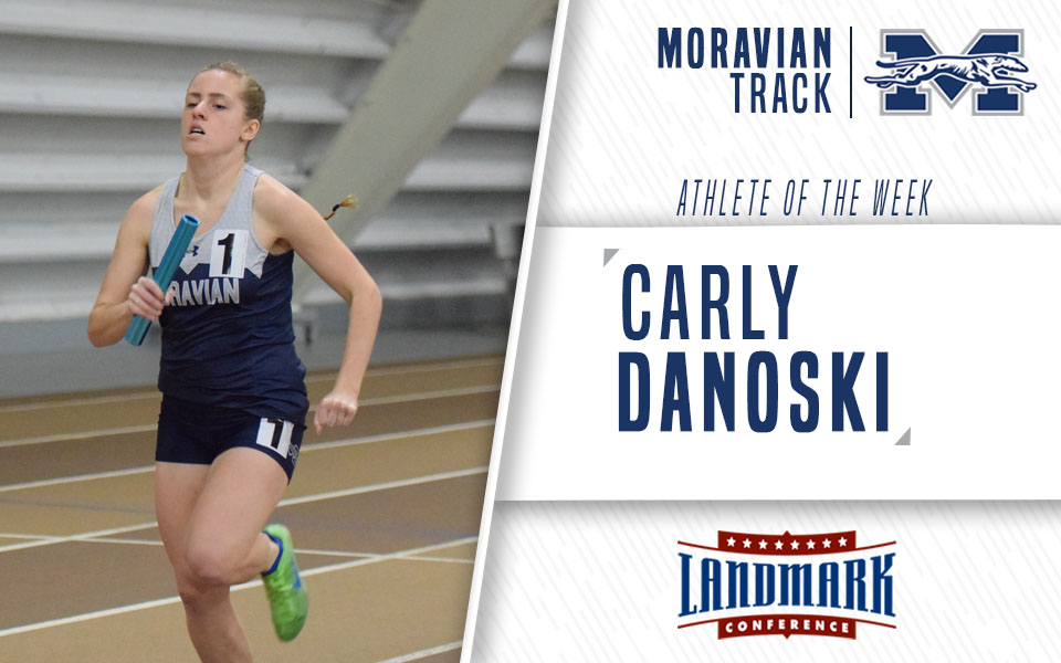 Carly Danoski named as Landmark Conference Women's Track Athlete of the Week.