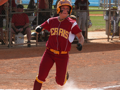Morgan Kramerich's two-RBI triple in the eighth inning represented the game-winning hit.  (Photo by Eric Carlson)