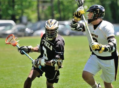 Men's Lacrosse Picks Up First Win of Season, 13-4, Over Point University