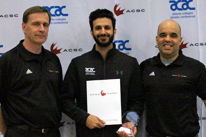 Wadia named CCAA Male Badminton Player of the Year