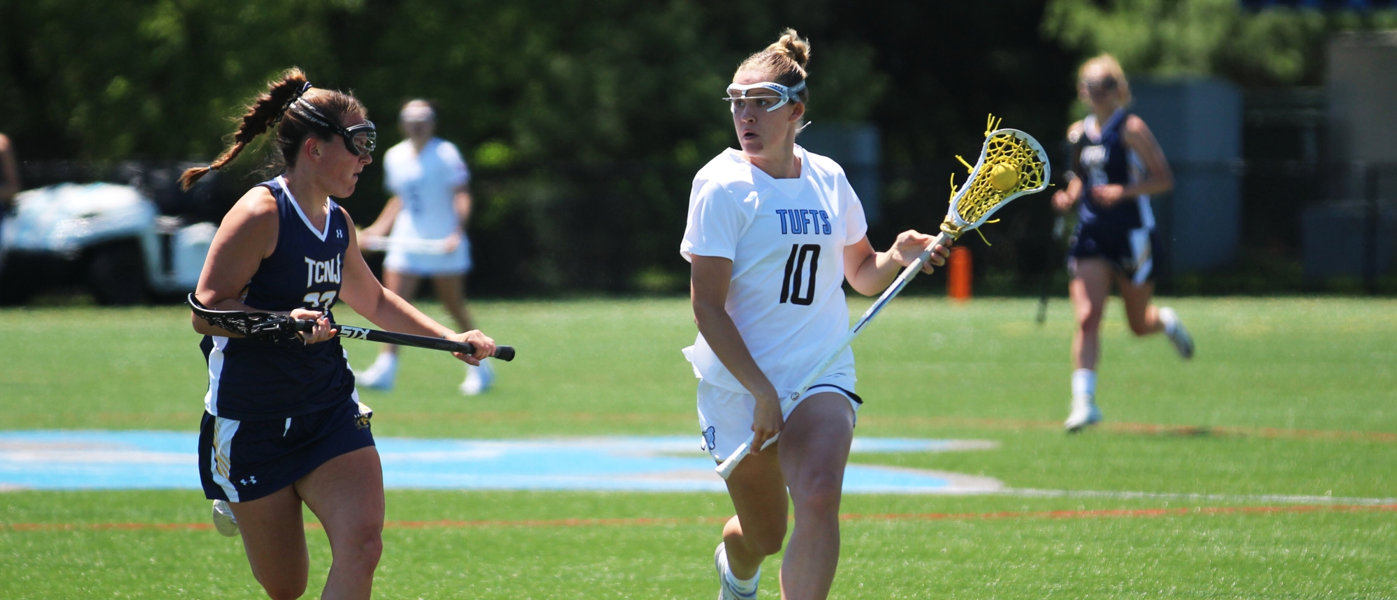 Women's Lacrosse Stays Step Ahead Of Colby For 18-12 NESCAC Win