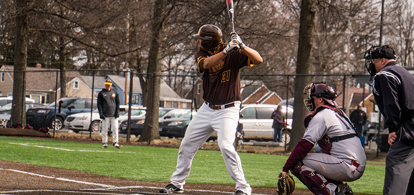 Senior Philip Wells hit a career-best two homeruns in the 5-4 victory over Ohio Wesleyan (Photo Courtesy of Alec Palmer)