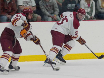 Brett Wysopal and Blair Riley have helped Ferris State to a top 20 team ranking in two national polls. (Photo by Scott Whitney)