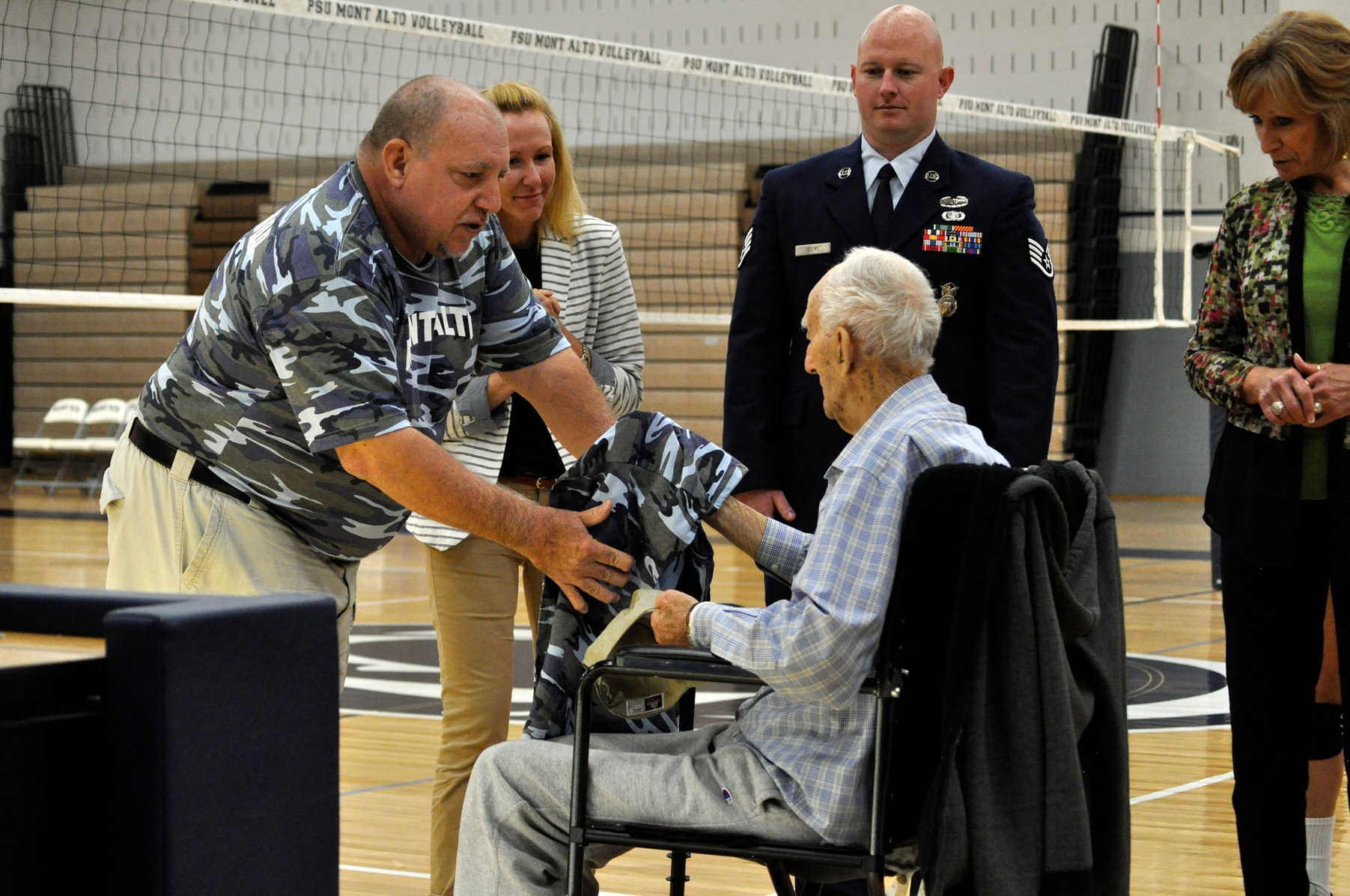 Mont Alto Volleyball Cruises to Victory in Salute to the Military Match