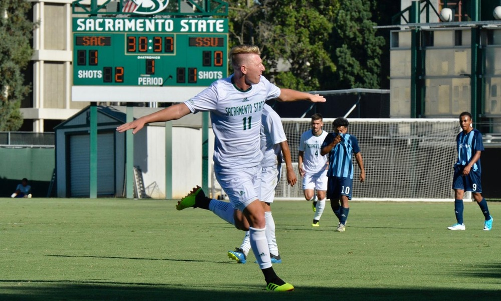 MEN'S SOCCER WRAPS PRESEASON PLAY WITH 6-0 SHUTOUT OVER SONOMA STATE