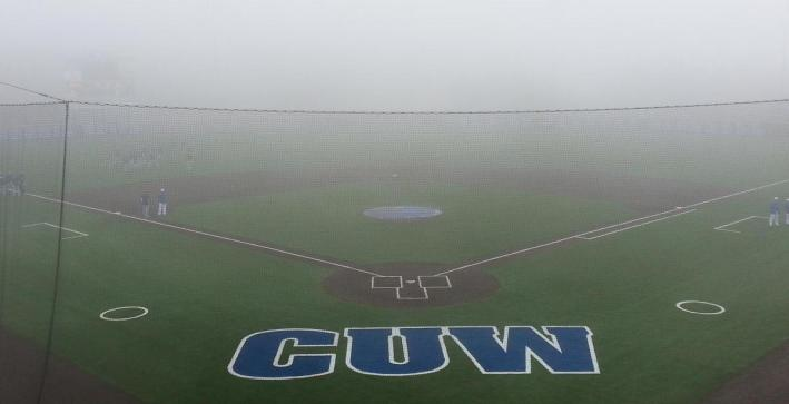 Baseball falls to St. Norbert, second game postponed by fog