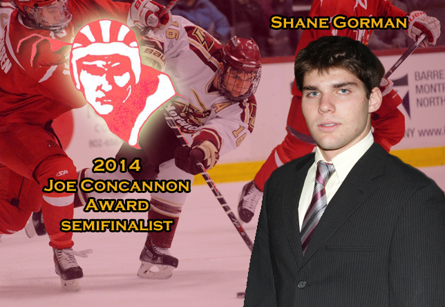 Men's Hockey: Gorman named semifinalist for Joe Concannon Award