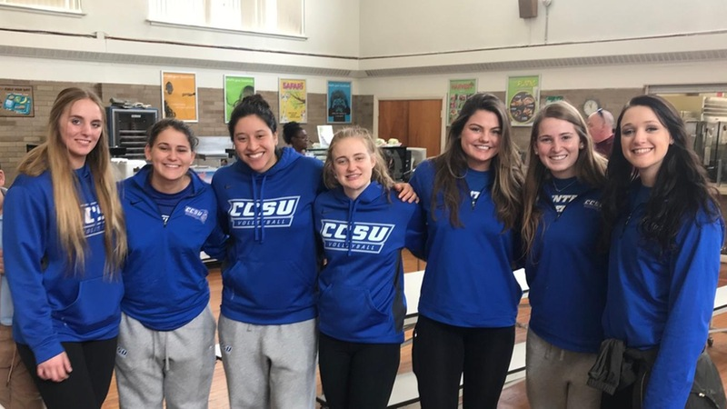 Volleyball Delivers School Supplies to Smalley Academy