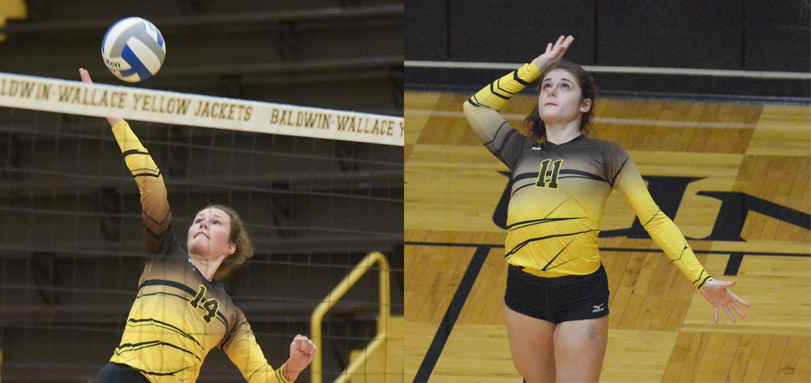 Academic All-OAC selections junior outside hitter Alicia Lortcher and junior defensive specialist Angel Redman