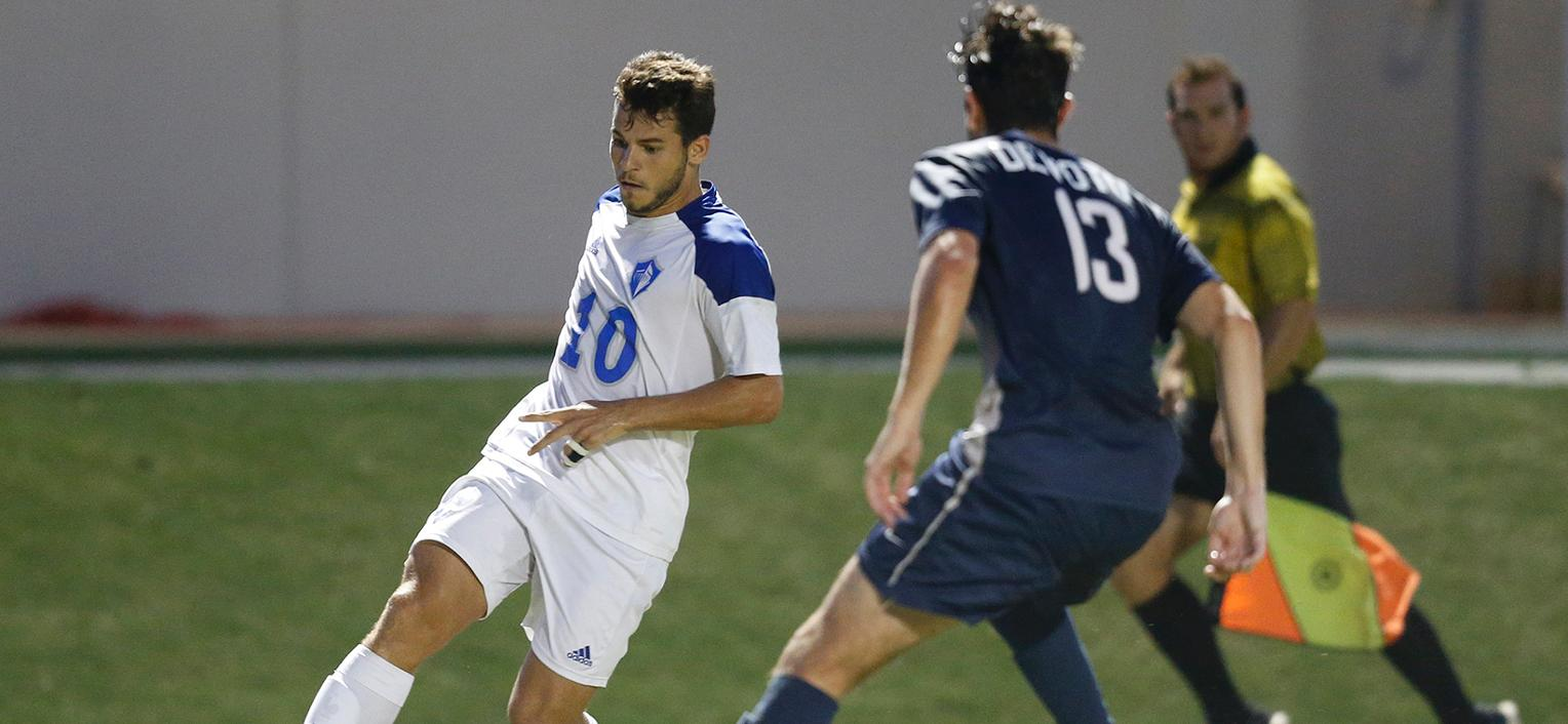 Men's Soccer Scores Early and Often in Victory