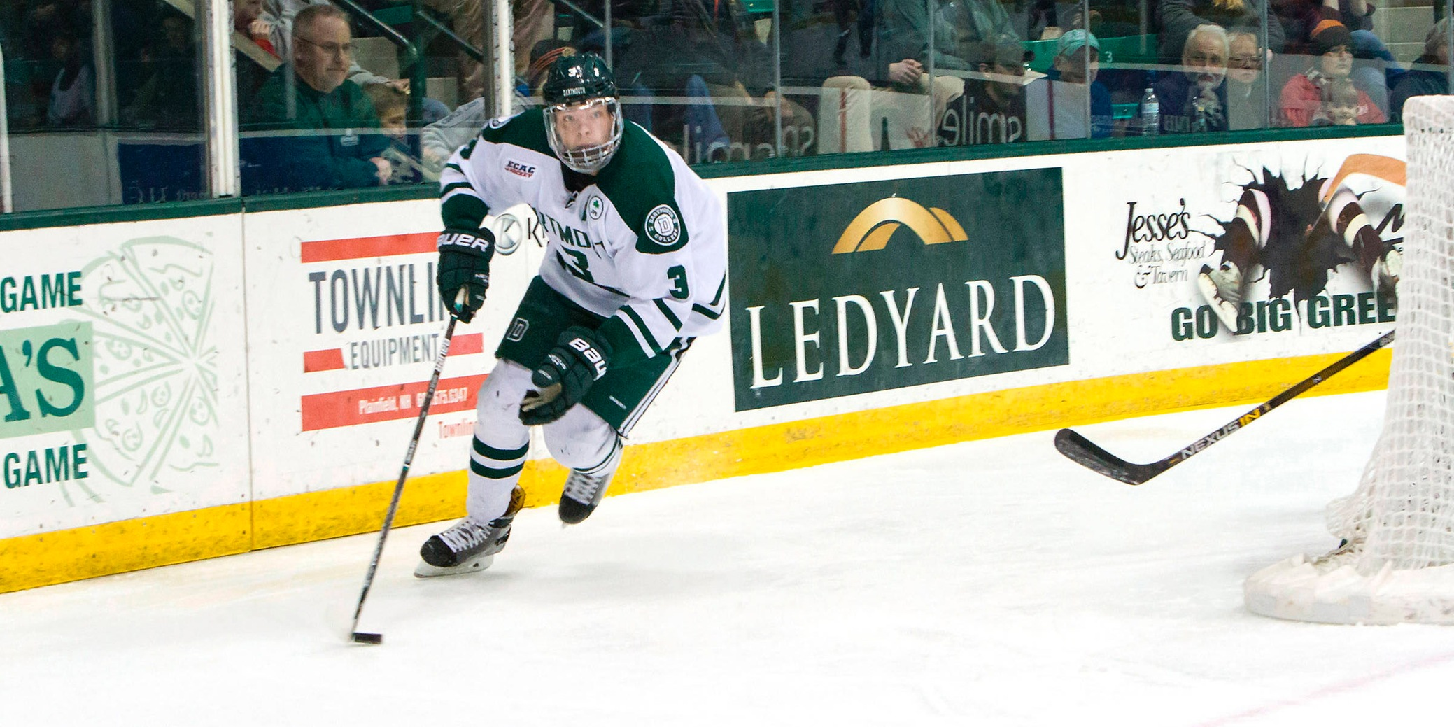 Hartley Scores Both as Dartmouth Win vs. RPI