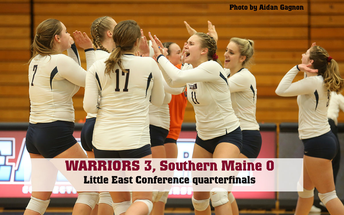 Women's Volleyball: Warriors Survive Set Point in Opener En Route to LEC Playoff Sweep