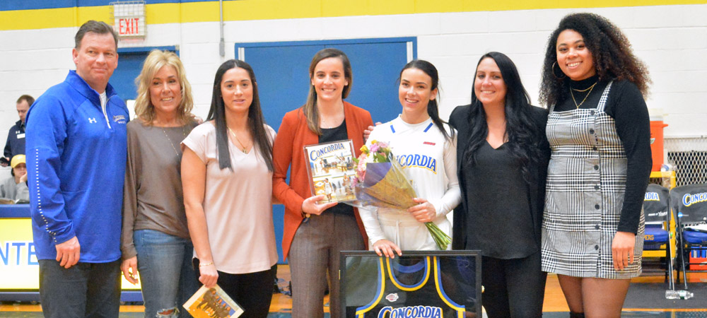 Nicholson Doubles Down On Senior Day; Women's Basketball Edged By Felician, 73-69