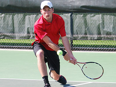 Ferris' Kyle Revall takes part in Thursday's NCAA Regional match (Photo by Travis McCurdy, Northwood Sports Information)