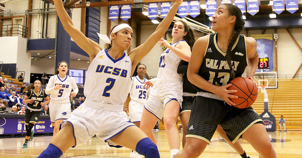 UC Santa Barbara Fends Off Cal Poly Rally to Edge Mustangs 73-68