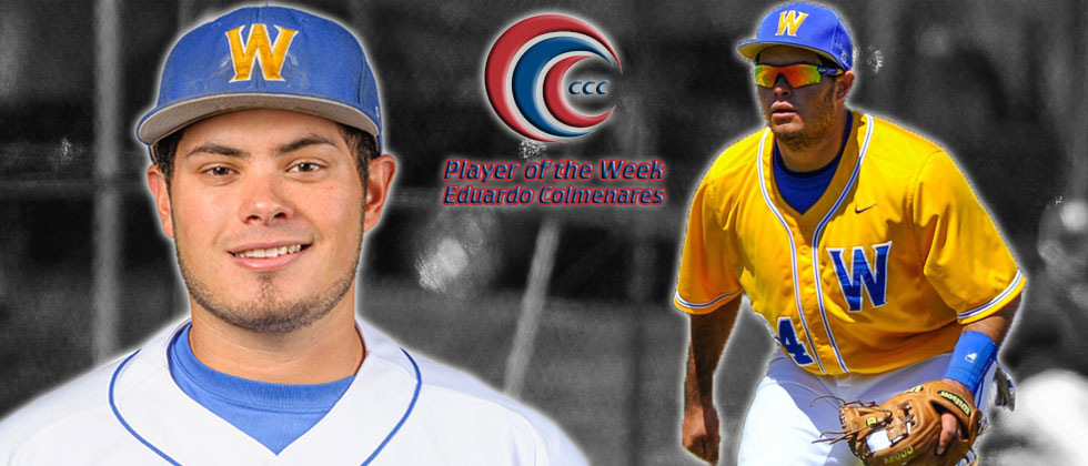 Eduardo Colmenares Earns CCC Player of the Week Honors