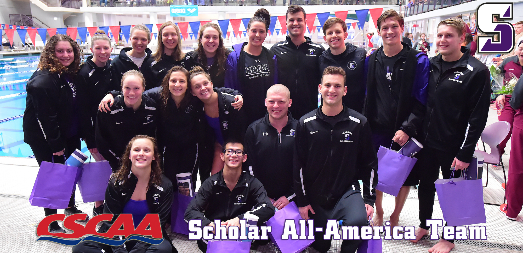 Men's, Women's Swimming & Diving Squads Claim CSCAA Scholar All-America Team Honors