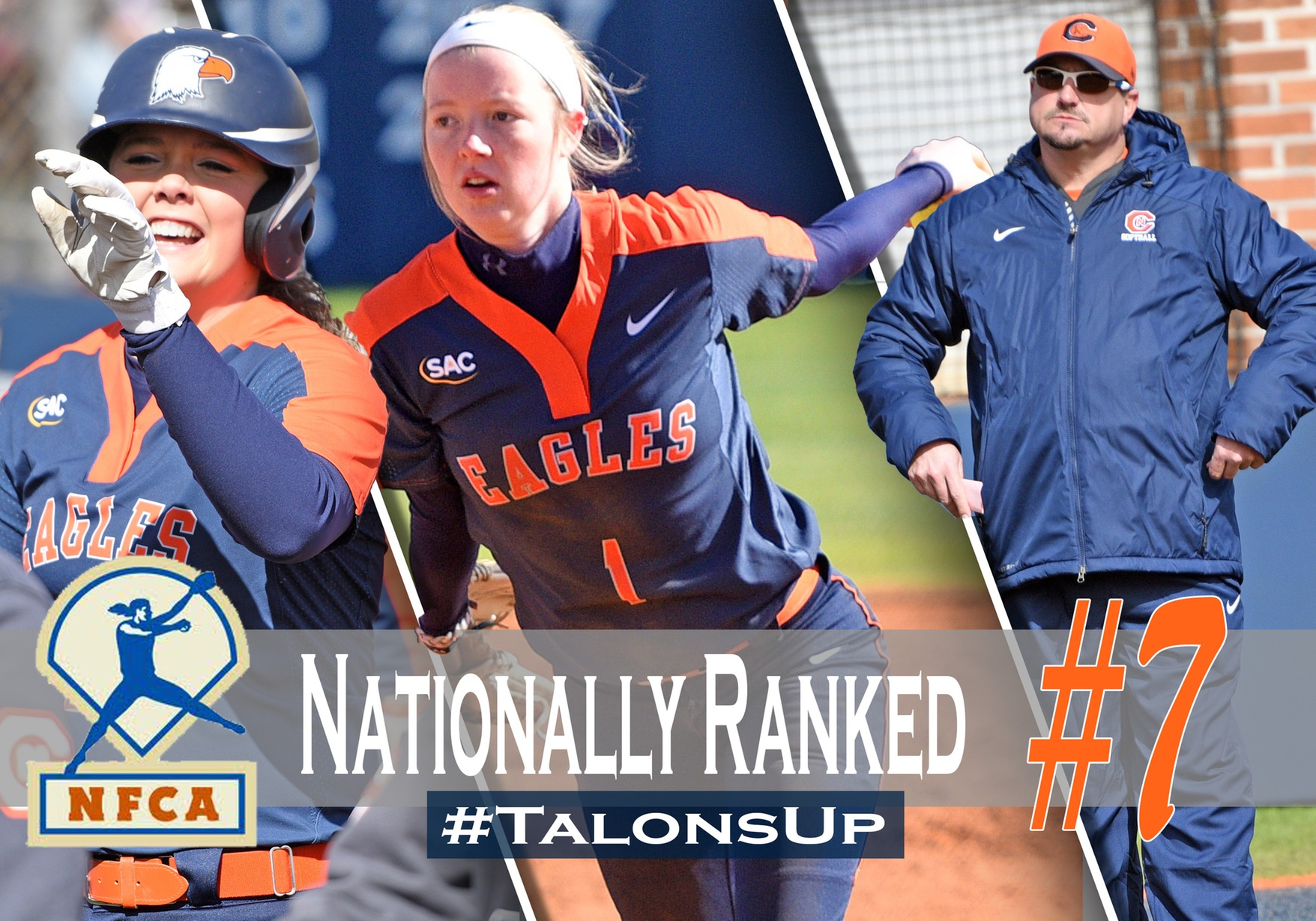 Eagles vault into NFCA Top 10, attain second highest NCAA ranking in program history