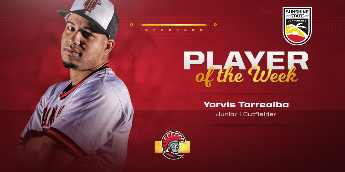 Yorvis Torrealba Takes SSC Player of the Week Honors