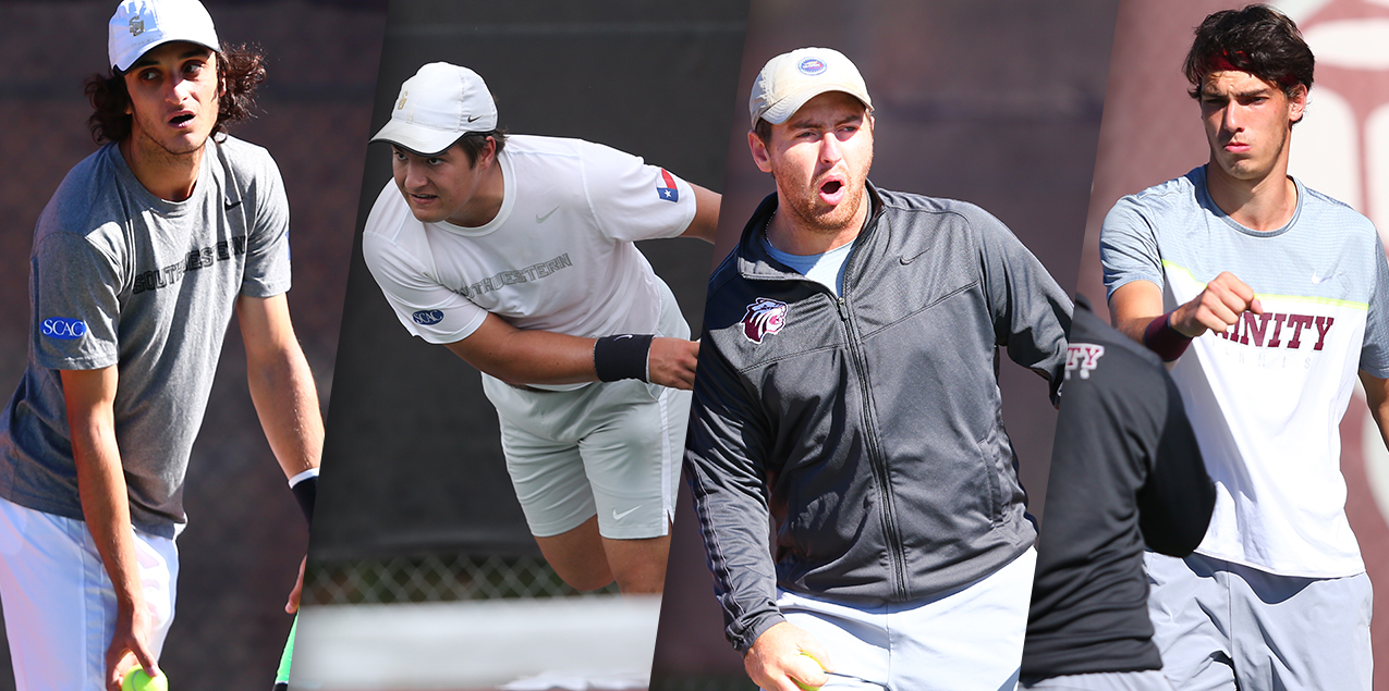 Southwestern, Trinity Top Men's Tennis Pairs Headed to NCAA Doubles Championship