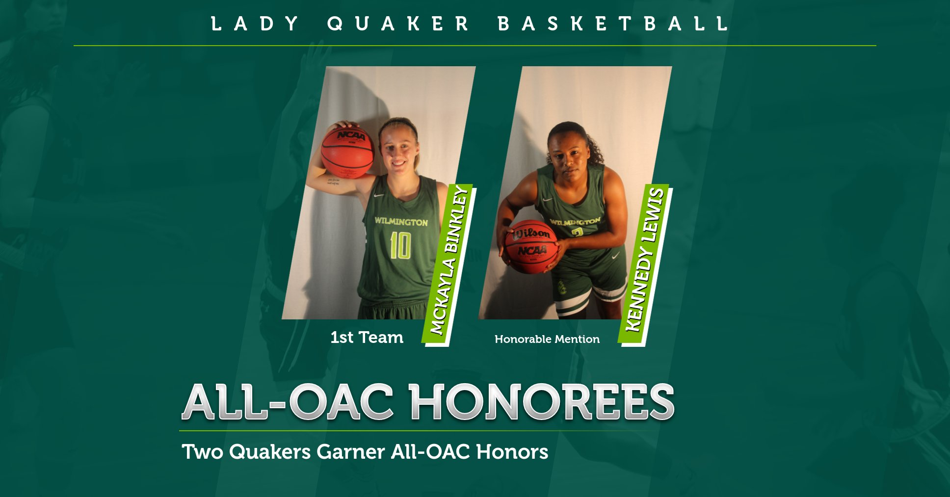 McKayla Binkley and Kennedy Lewis Named All-OAC