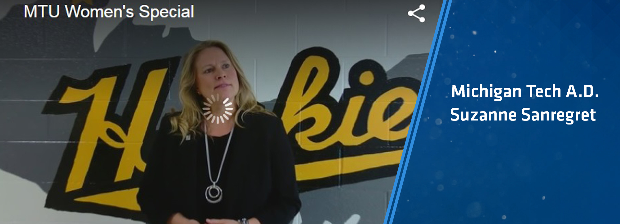 Local 3 News features MTU Director of Athletics Suzanne Sanregret