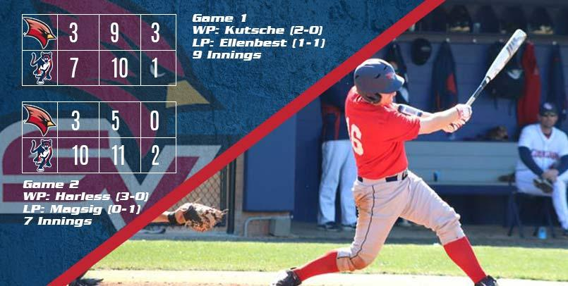Carson Eby was 3-for-3 with two runs scored in the opener on Saturday...