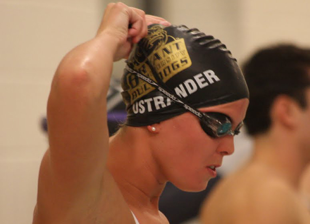 Ostrander sets NEC record, grabs 2nd gold