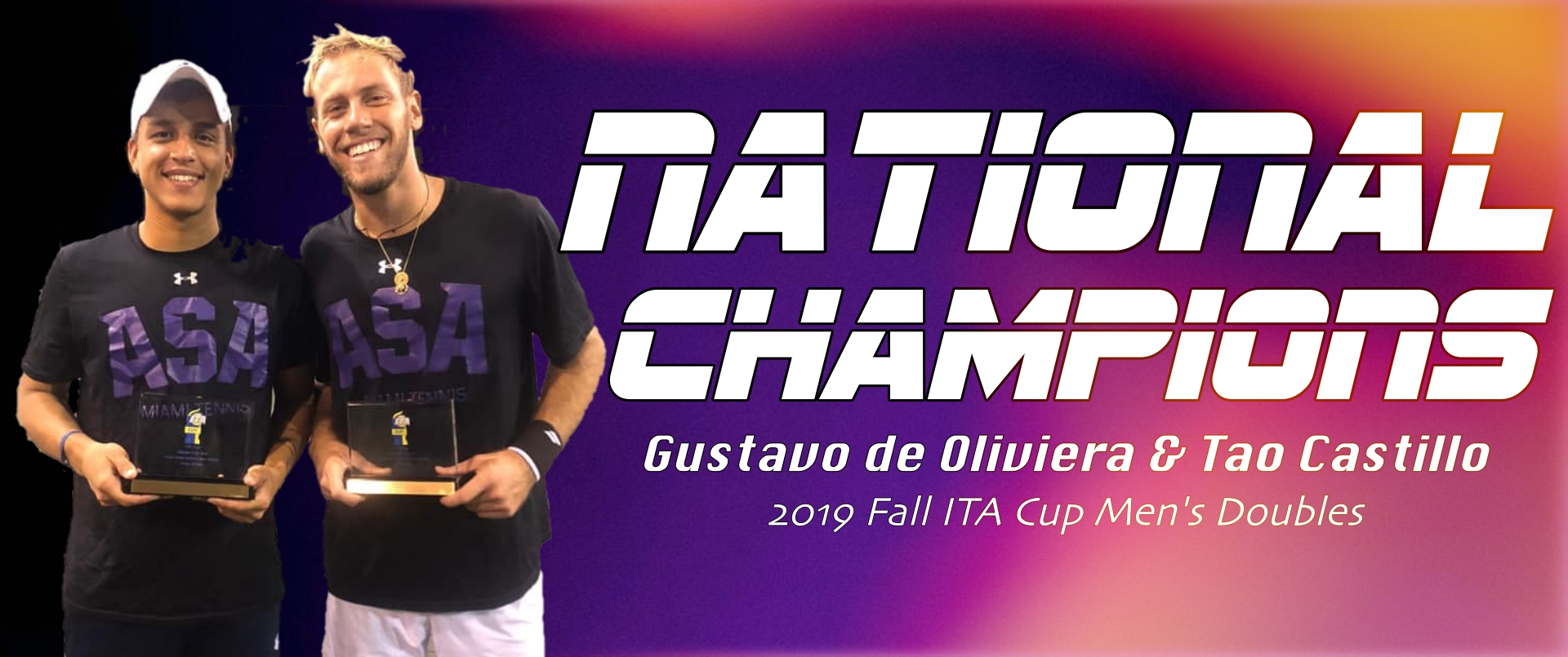 Castillo & Cruz Win Men's ITA Fall Cup Doubles National Title