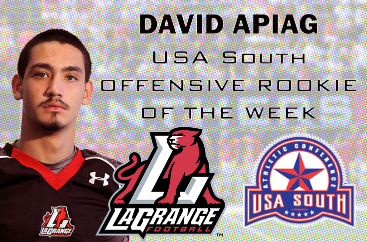 Football: David Apiag named USA South Offensive Rookie of the Week